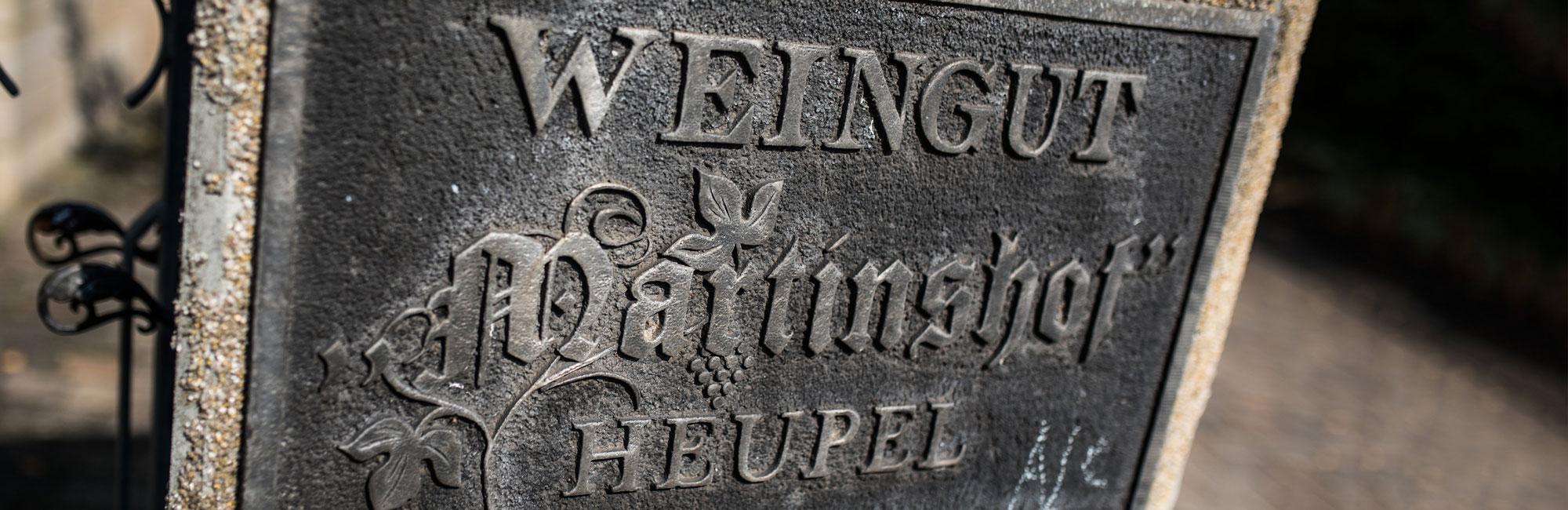 Weingut Martinshof-Heupel Schild